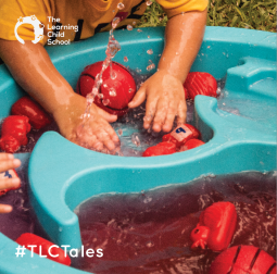 """Sinking, floating, splashing, heavy and light, big and small, wet and dry! There's so much to learn from water play. On a beautiful sunshine-y day, you may find our garden filled with children splashing about, playing in the """"rain"""", and even washing (toy) cars!"""